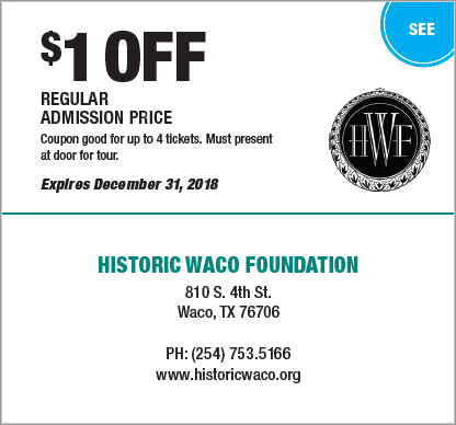 Coupons 2018 Waco The Heart Of Texas