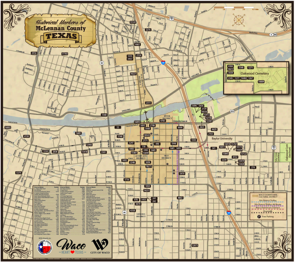 New Map Available Historical Markers Of Mclennan County Waco