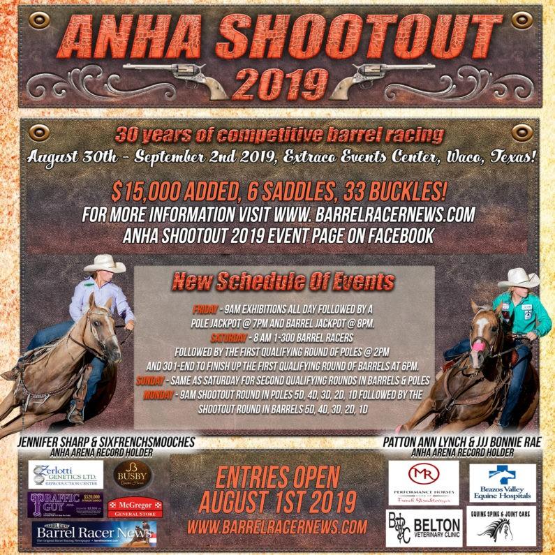ANHA Shootout – Barrel Race – Waco & The Heart of Texas
