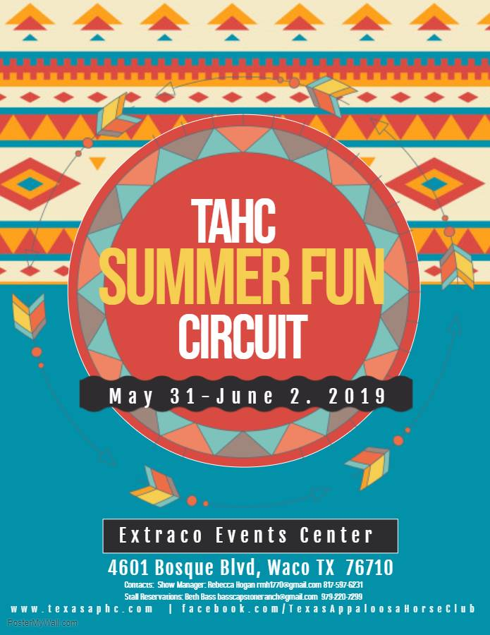 Texas Appaloosa Horse Club Summer Fun Circuit – Waco & The