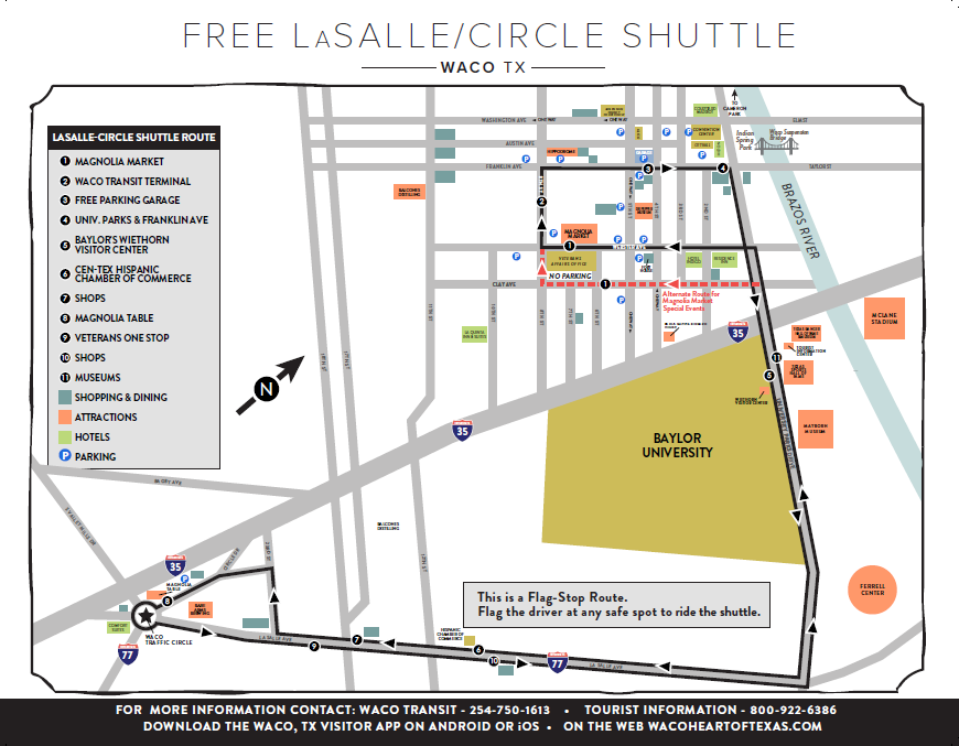 LaSalle/Circle Shuttle Map