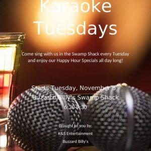 Karaoke Tuesday at Buzzard Billy's