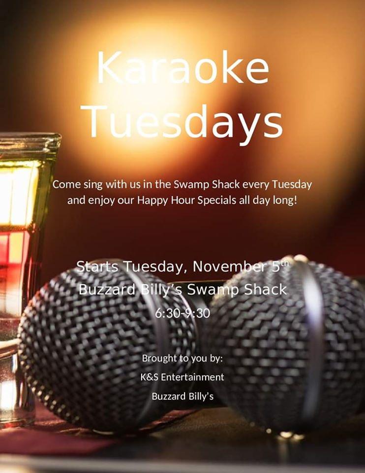 Karaoke Tuesday at Buzzard Billy's
