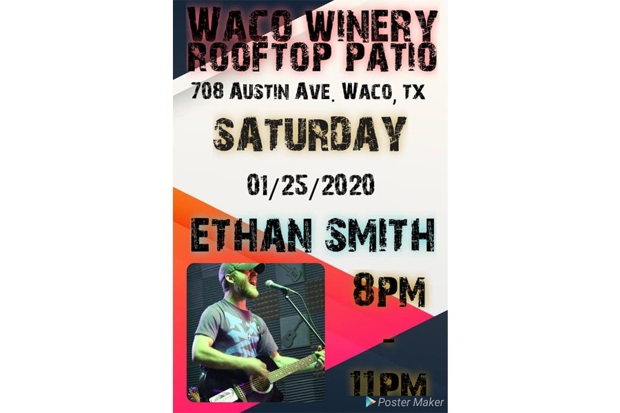 Ethan Smith: Live at Waco Winery Rooftop Patio