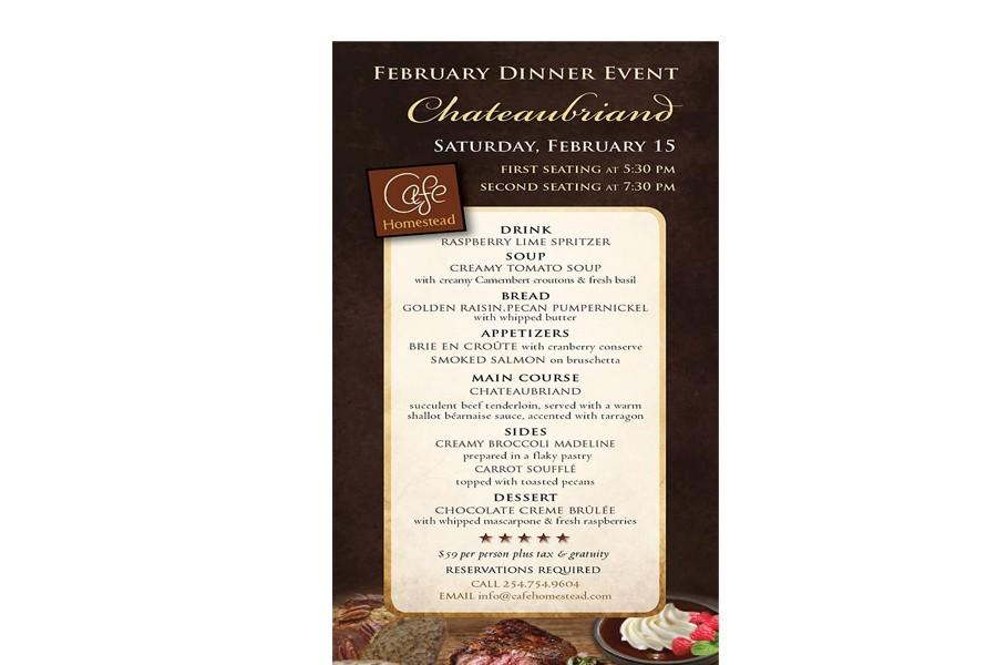 February Dinner Event: Cafe Homestead