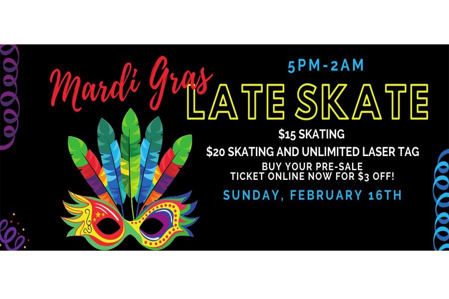 Mardi Gras Late Skate