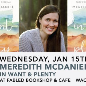 Meredith McDaniel Book Signing