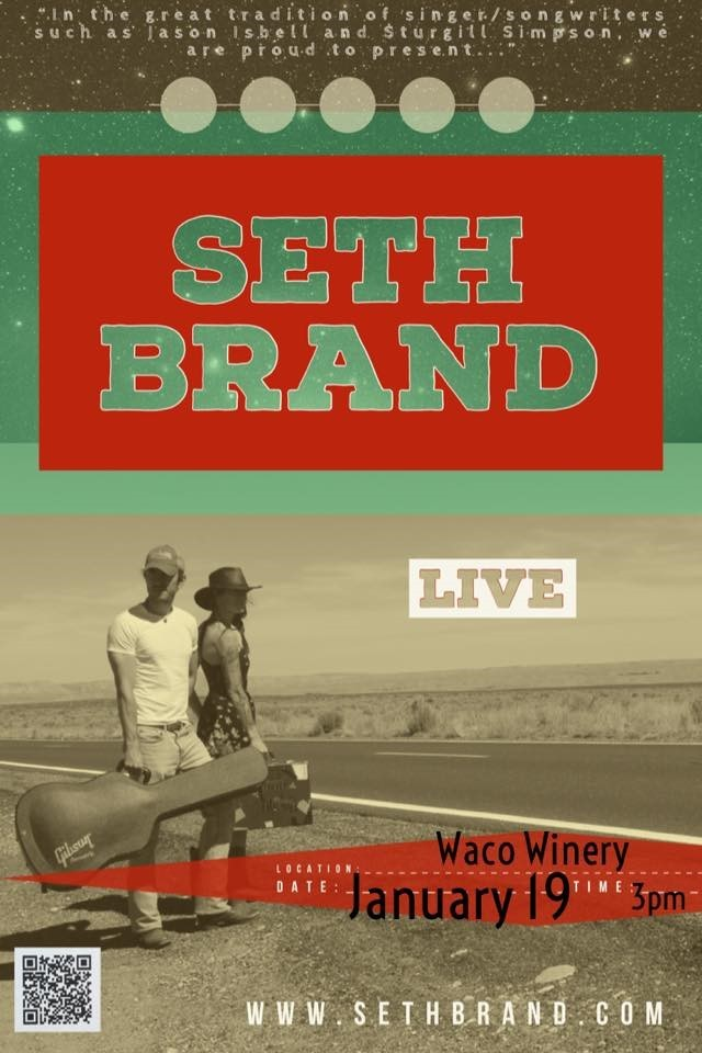 Seth Brand Live at Waco Winery Rooftop Patio
