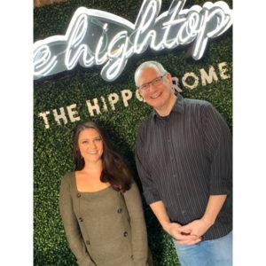 Jennifer Pisarcik with Jon Fox at The Hightop at the Hippodrome