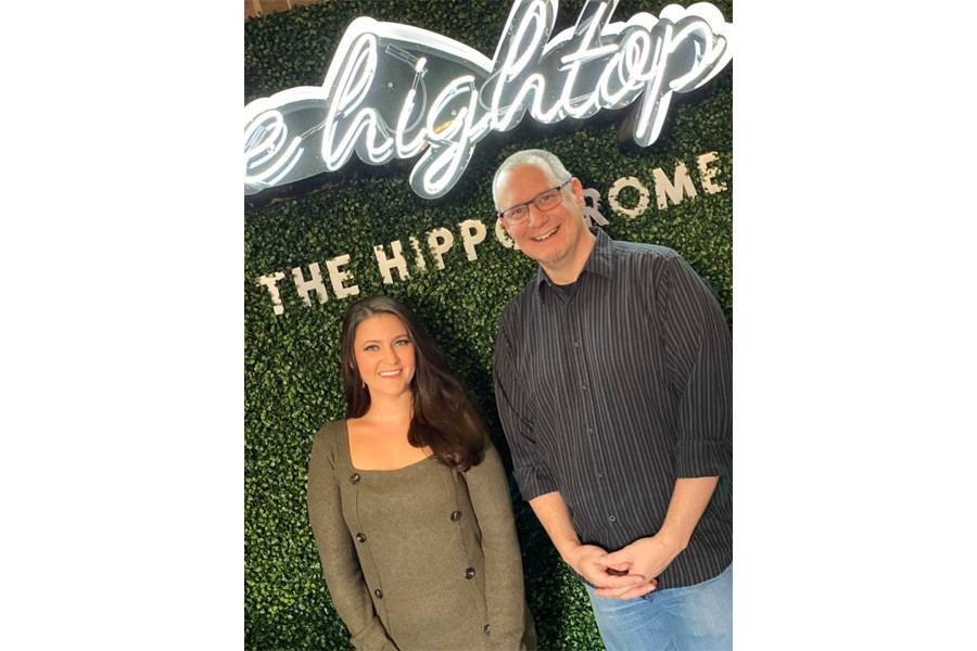 Jennifer Pisarcik with Jon Fox at The Hightop at the Hippodrome