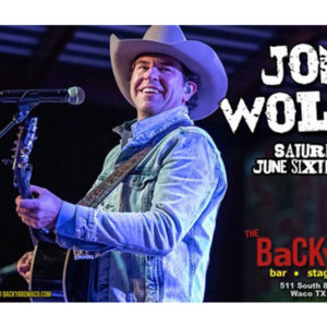Jon Wolfe at the Backyard!