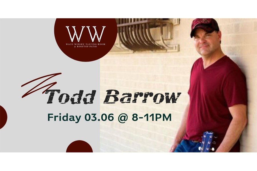 Todd Barrow at Waco Winery Tasting Room